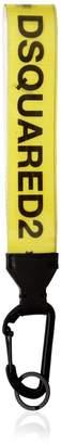 DSQUARED2 Rubber & Cotton Canvas Logo Key Holder