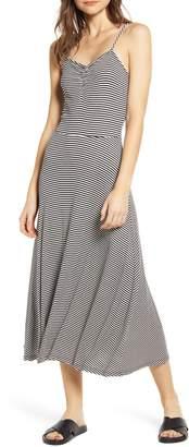 BP Ruched Rib Midi Dress