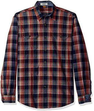 Tailor Vintage Men's Sunset Indigo Plaid Shirt