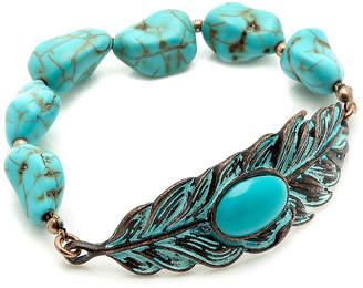 Mia Turqouise Leaf Stretch Bracelet