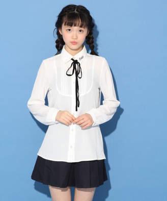 repipi armario (レピピ アルマリオ) - ☆2018-2019卒服☆ピンタックリボンブラウス