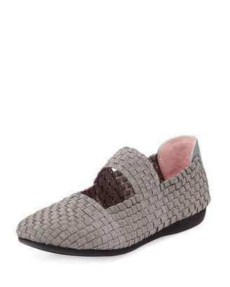 Taryn Rose Bela Woven Mary Jane Flat, Pewter $135 thestylecure.com