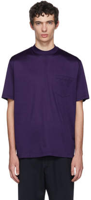 Lanvin Indigo High Collar T-Shirt