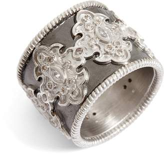 Armenta New World Scroll Diamond Band Ring