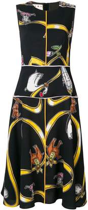 Marni printed sleeveless midi dress