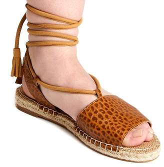 Matisse La Vita Wraparound Reptile Embossed Leather Sandal