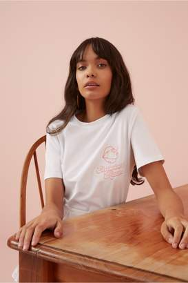 Finders Keepers KISSES T-SHIRT white