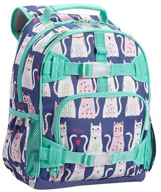 Pottery Barn Kids Mackenzie Navy/Turquoise Kitty Hearts Classic Lunch Bag