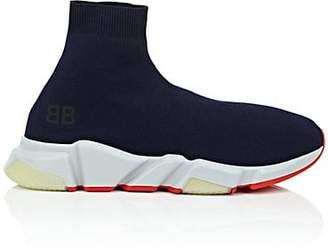 Balenciaga Men's Speed Knit Sneakers - Blue