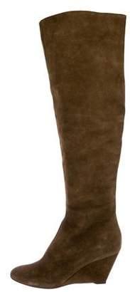 Giuseppe Zanotti Suede Wedge Boots
