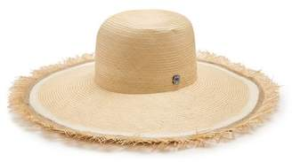 Filù Hats Filu Hats - Bali Buntal Striped Wide Brimmed Straw Hat - Womens - White