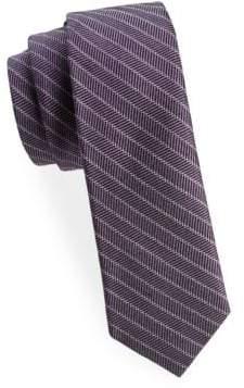 Stripe Silk Wool Tie