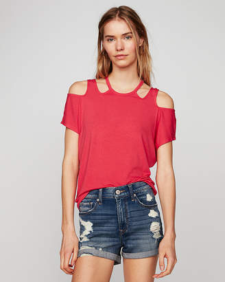 Express One Eleven Cold Shoulder Cut-Out Tee