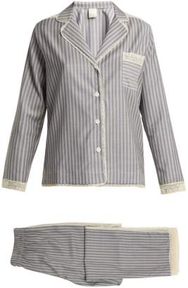 MORPHO + LUNA Ines lace-trimmed wool-flannel pyjama set