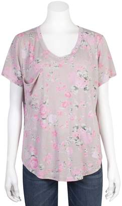 Grayson Threads Juniors' Plus Size Relaxed Floral Tee