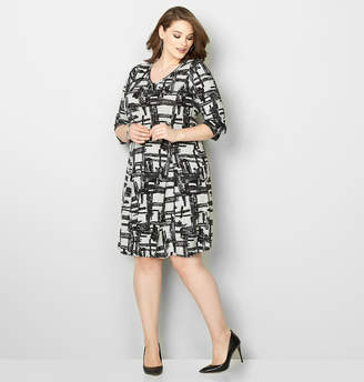 Avenue Crosshatch Godet Hacci Dress