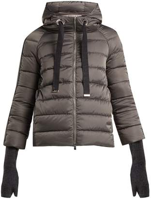 Herno Hooded nylon short jacket