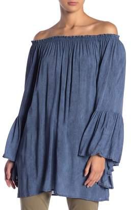 Elan International Off-the-Shoulder Bell Sleeve Tunic
