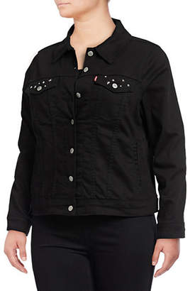 Levi's Plus Embellished Denim Trucker Jacket