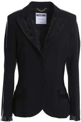 Moschino Coated-trimmed Crepe Blazer