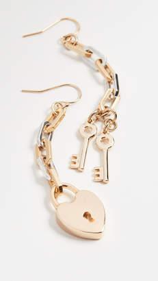Lulu Frost Folly Wire Heart Earrings