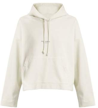Acne Studios Hooded Logo Print Cotton Jersey Sweater - Womens - White