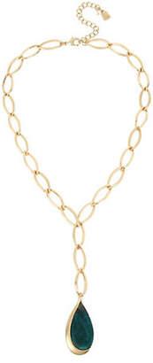 Robert Lee Morris SOHO Tear Drop Pendant Chain Necklace