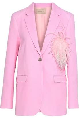 Christopher Kane Embellished Wool-Crepe Blazer