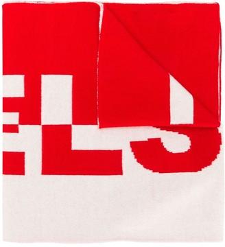 Belstaff logo knit scarf