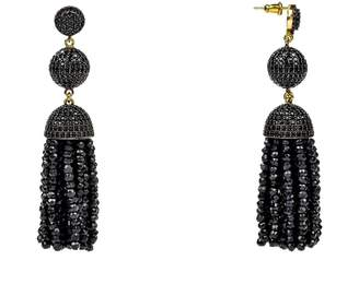 Latelita London - Tassel Ball Earring Black Spinel