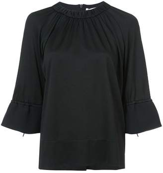 Tibi Astor shirred blouse