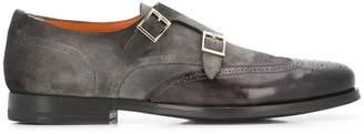 Santoni double monk strap shoes