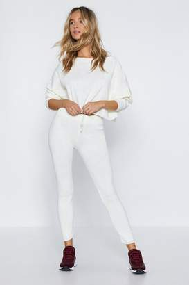 Nasty Gal And There You Have Knit Sweater and Jogger Pants Set