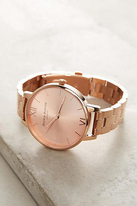 Olivia Burton Reign Rose Gold Watch $158 thestylecure.com