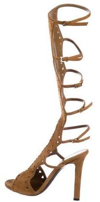 Tamara Mellon Suede Knee-High Sandals