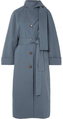 REJINA PYO - Riley Belted Cotton-blend Trench Coat - Blue
