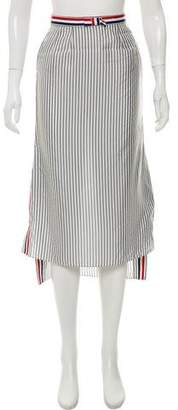 Thom Browne Striped Midi Skirt