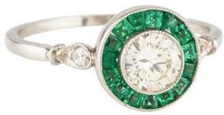 Ring Platinum Diamond & Emerald