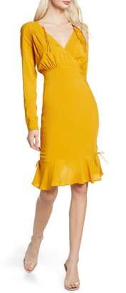 Finders Keepers Bloom Long Sleeve Cinch Dress