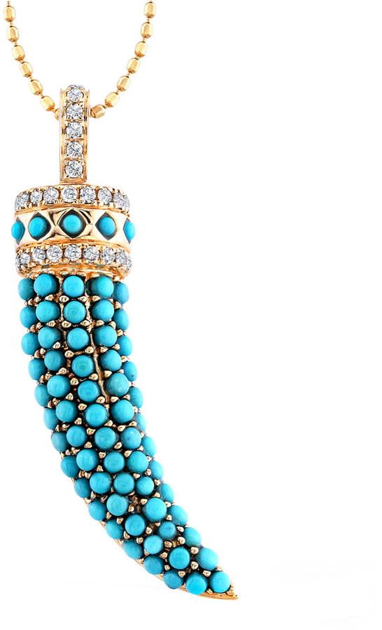 Mystic Light Bejeweled Horn Necklace