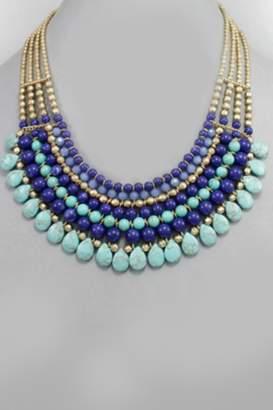 Embellish Beaded Bib Necklace