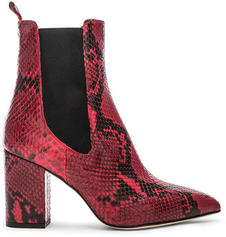 Paris Texas Python Print Ankle Boot in Red | FWRD