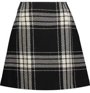 McQ Checked Brushed Wool-Blend Mini Skirt