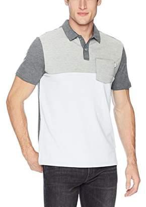 Calvin Klein Men's Short Sleeve Color Block Polo Shirt with Pocket