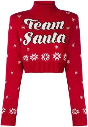 Philosophy di Lorenzo Serafini Team Santa cropped jumper