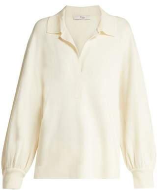 Tibi Merino Wool Polo Sweater - Womens - Ivory