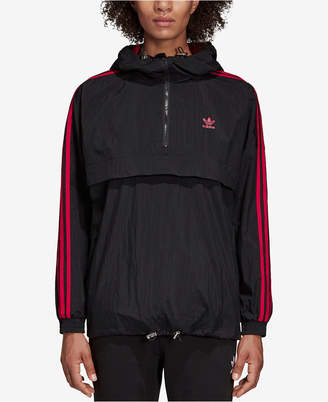 adidas Hooded Quarter-Zip Windbreaker