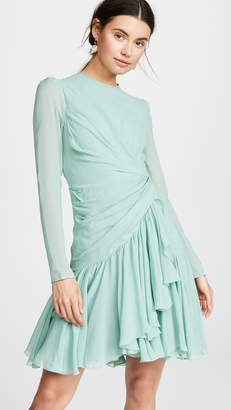 Giambattista Valli Cinched Waist Ruffle Dress
