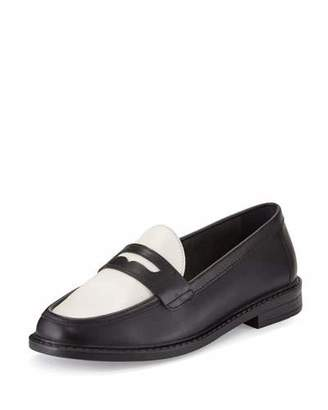 Cole Haan Pinch Campus Penny Loafer, Black/Ivory $140 thestylecure.com