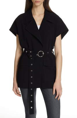 Cinq à Sept Hunter Belted Short Sleeve Jacket
